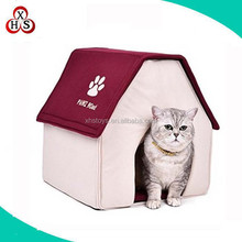 Small Medium Cats Dogs Tent Bed Luxury Pet House for Dogs Senior Striped Kennel Nest