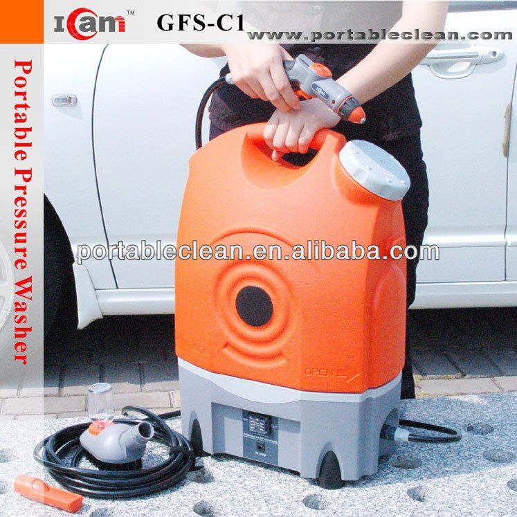 GFS-C1-Electronic mini Car washer with 17L folding bucket