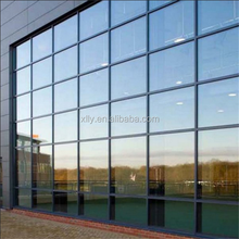 aluminum curtain wall frame for glazing system
