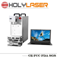 30W Mini Portable Fiber Laser Marking Machine for Gift and Jewelry Chain Stores