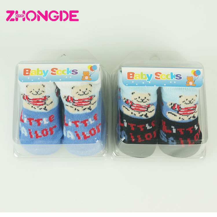 Warm comfortable cute cotton baby sock shoes , baby shoe socks