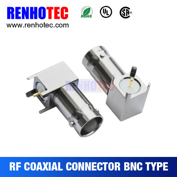 bnc female right angle pcb connector for terminals