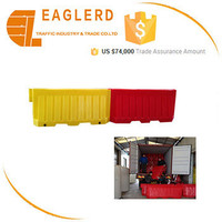 2m water filled plastic traffic barrier