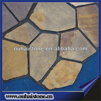 Garden natural slate rusty paving stone