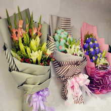 Variety of flowers wrapping paper