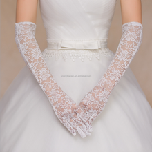 New fashion high quality beautiful long bridal wedding evening party lace gloves for women