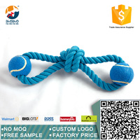 The latest design cotton rope fully natural pet toy with ball