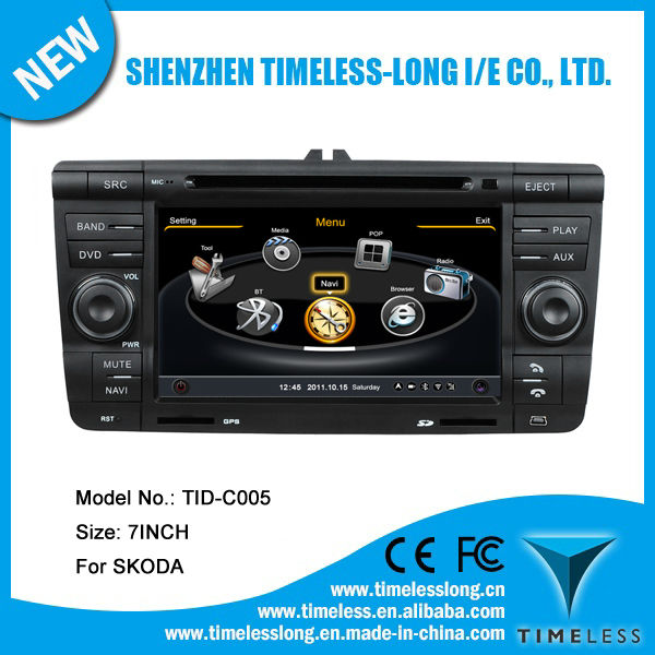 Car DVD for SKODA OCTAVIA II 2007-2009 with Gps 7 inch RDS iPod Radio Bluetooth 3G Wifi 20 disc copying S100 platform ( TID-C005