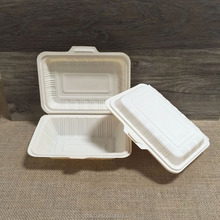Disposable Take Away Cornstarch Food Packaging Compostable Clamshell Lunch Box