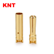 4.0mm Gold plated bullet banana plug connector for RC brushless motor