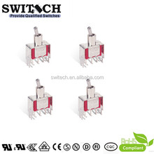 3 Pins SPDT 12v Toggle Switches with Stainless Steel Actuator 250V off on on toggle switch
