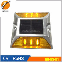 Aluminium alloy off road solar flashing safety light lampe solaire led