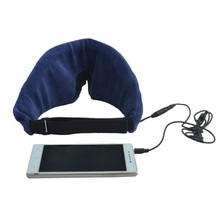 with CE &ROHS wired washable cover eye mask for mp3 players