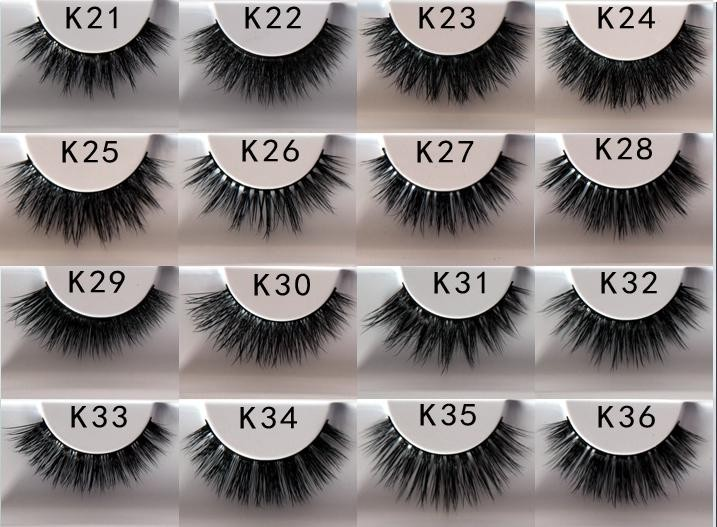 Customized clear band thread 3D mink strip false eyelashes
