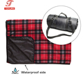 Luxury Checkered Plaid Fleece Waterproof Backing Picnic Blanket for Outdoor Family Adventures Camping Hiking Beach