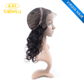 KBL New Arrival Brazilian virgin hair full lace wig back part of wig made by hair weft