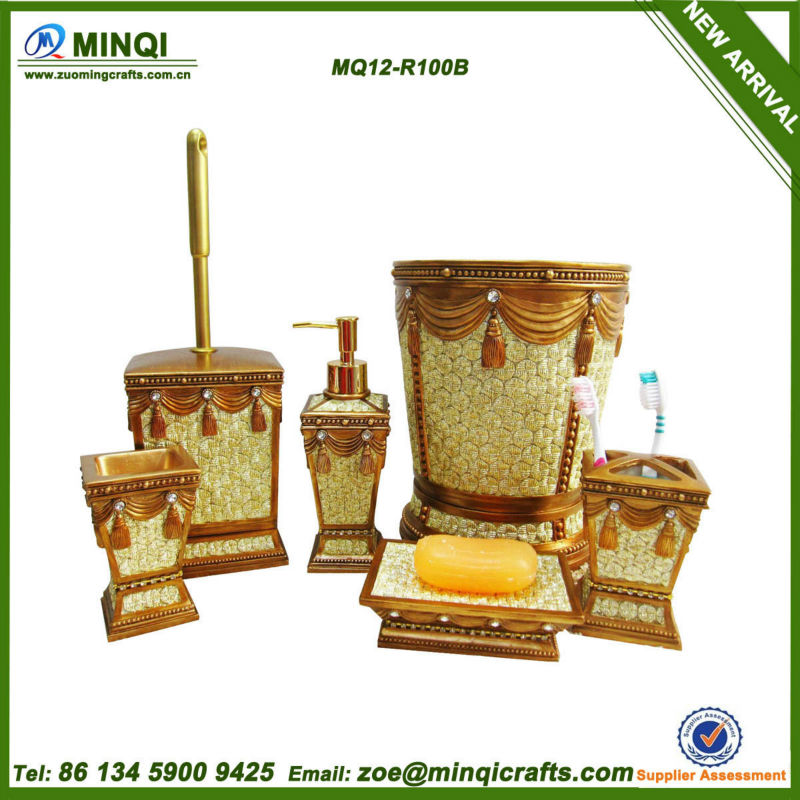 Polyresin 6pcs bathroom accessories in dubai