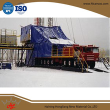 drilling rig shelter cover pvc material for tarpaulin