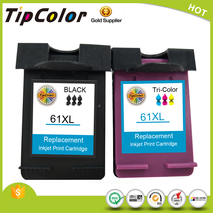 Printer Inkjet cartridge for 61XL remanufactured ink cartridge compatible for HP 61XL
