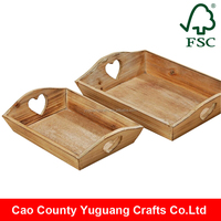 Yuguang Crafts China Fir Wood Rustic Shabby Antique Wooden Tea Tray