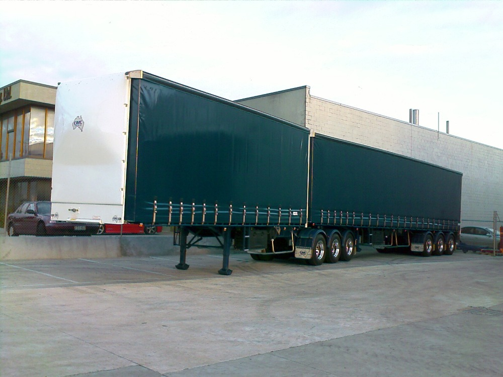 Curtain side trailer European type 3 axles