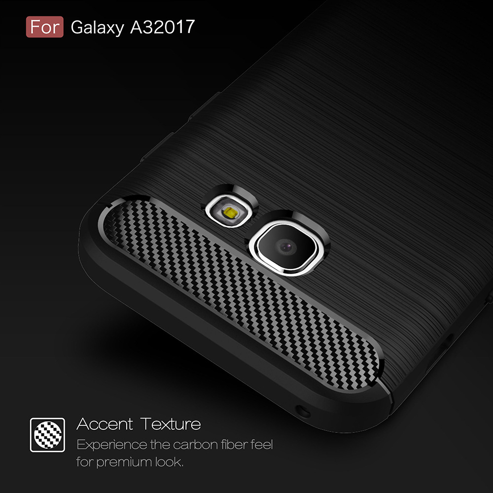 2017 New Style Caebon Fiber Case For Samsung Galaxy A3 2017 TPU Bumper Case