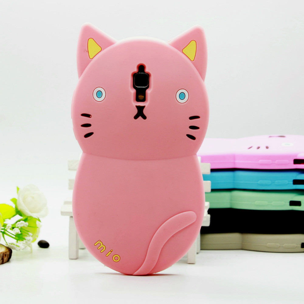 3D cartoon silicone animal shaped phone cover for xiaomi mi4 ,cute cat for xiaomi 4 case,50pcs/lot