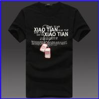 fake brand name clothing men's cotton jersey print t shirt