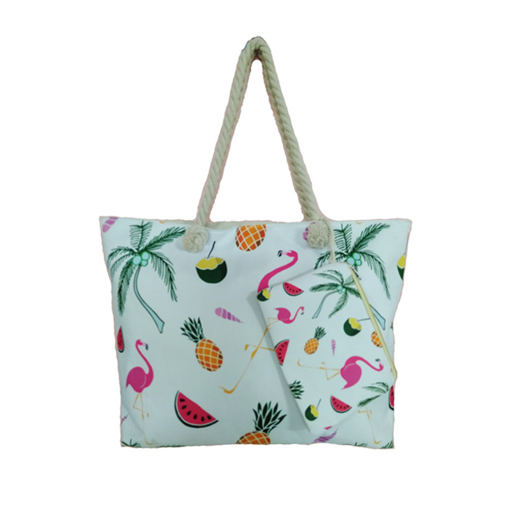 High Quality Eco Friendly 600D Polyester Handbag Beach Bags For Ladies Girls