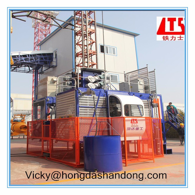HONGDA With Two Transfer Motors Frequency Conversion Construction Elevator