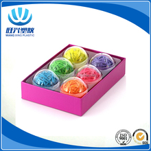 Office+Style 6 Colored Rubber Band Balls with Close-Lid Storage Cases,