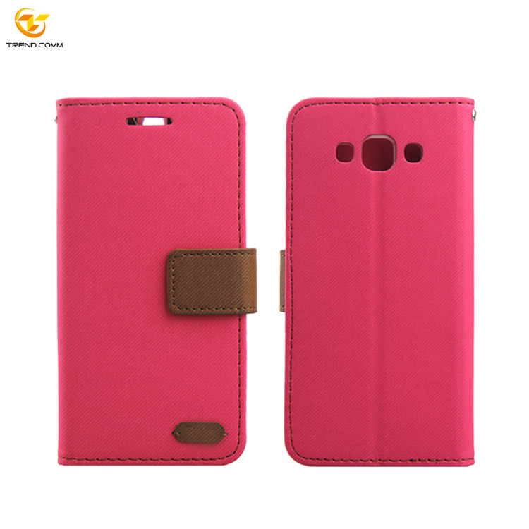 Unique Design Flip TPU Leather Case for Samsung A7 Can OEM logo
