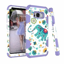 New arrival cartoon elephant adorable PC+silicon cell phone accessories mobile phone case for Samsung s8plus