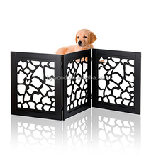 Beautiful design solid wood foldable freestanding home office indoor safety wooden pet gate