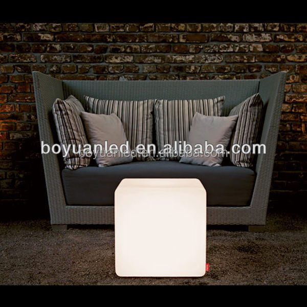 Illuminated Indoor Outdoor 16 Color Changing LED Cube For Home Party Decoration/Stool/Chair/Seat