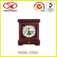 Classic Red Sandalwood Desk Table Clock