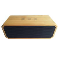 Mini touch screen wooden bluetooth speaker with NFC