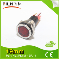 FILN 19mm diameter metal good quality red 12v fire alarm led indicator signal lamp