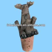 Wholesale Resin Wine bottle animal horse stopper