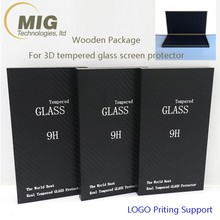 Wooden Package Box for 3D Curved Edge Tempered Glass Screen Protector