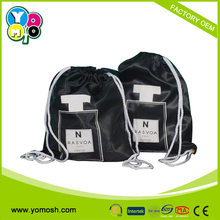 2015 Promotional shopping satin drawstring bag , promotional satin drawstring bag, satin backpack bag