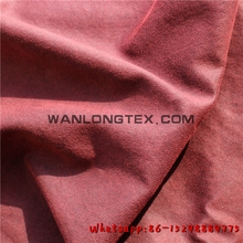 100% cotton suede fabric for garment cloth