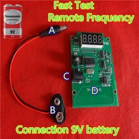 Car keys frequency test device.Fast test &check remote frequency PCB Borad with 9V battery.frequency wireless test
