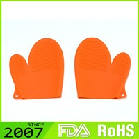 Fast Production Humanized Design Custom Print Foldable Silicone Rubber Oven Gloves