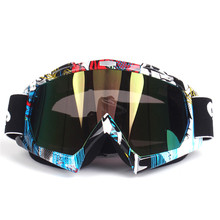 YOUME Motorcycle Motocross Goggles Glasses for Helmet Racing Gafas Dirt Bike ATV MX Goggles Clear Tinted Lens Off Road Adjustab