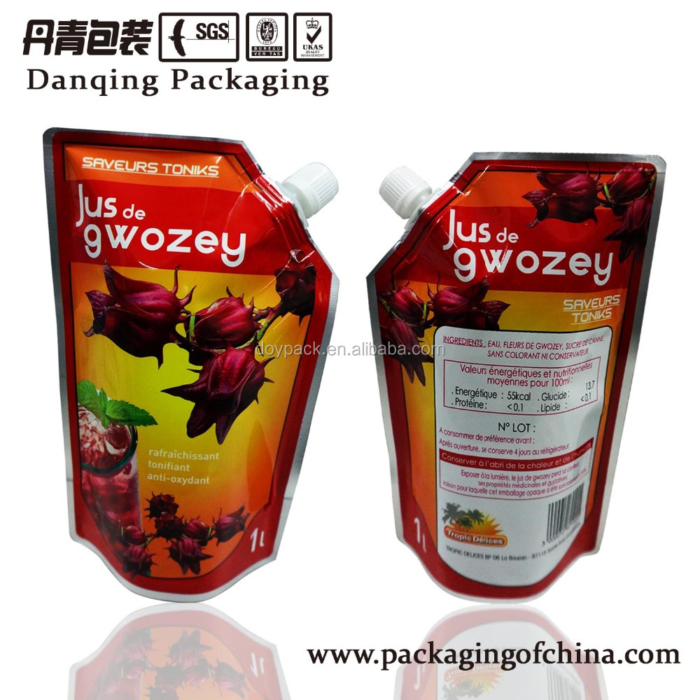 Chaoan packaging bag, drink pouches with spout E0017