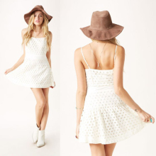 2014 New Style Eyelet White Summer Dress