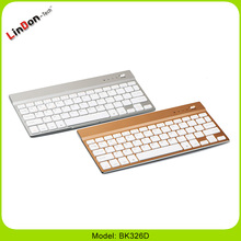 Thin Aluminum cover mini bluetooth wireless keyboard for Smartphone tablet pc devices BK326D