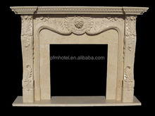 Freestanding Flower carved modern floral fireplace surround