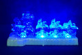 Hot sales promotion musical led color changing with mini-train Acrylic christmas gift
